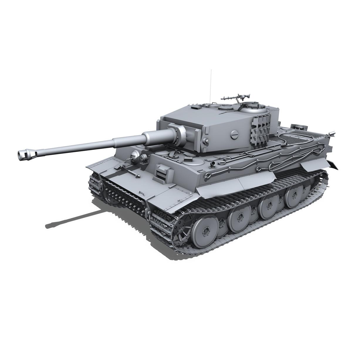 panzer vi – tiger – mid production 3d model 3ds fbx c4d lwo obj 202292