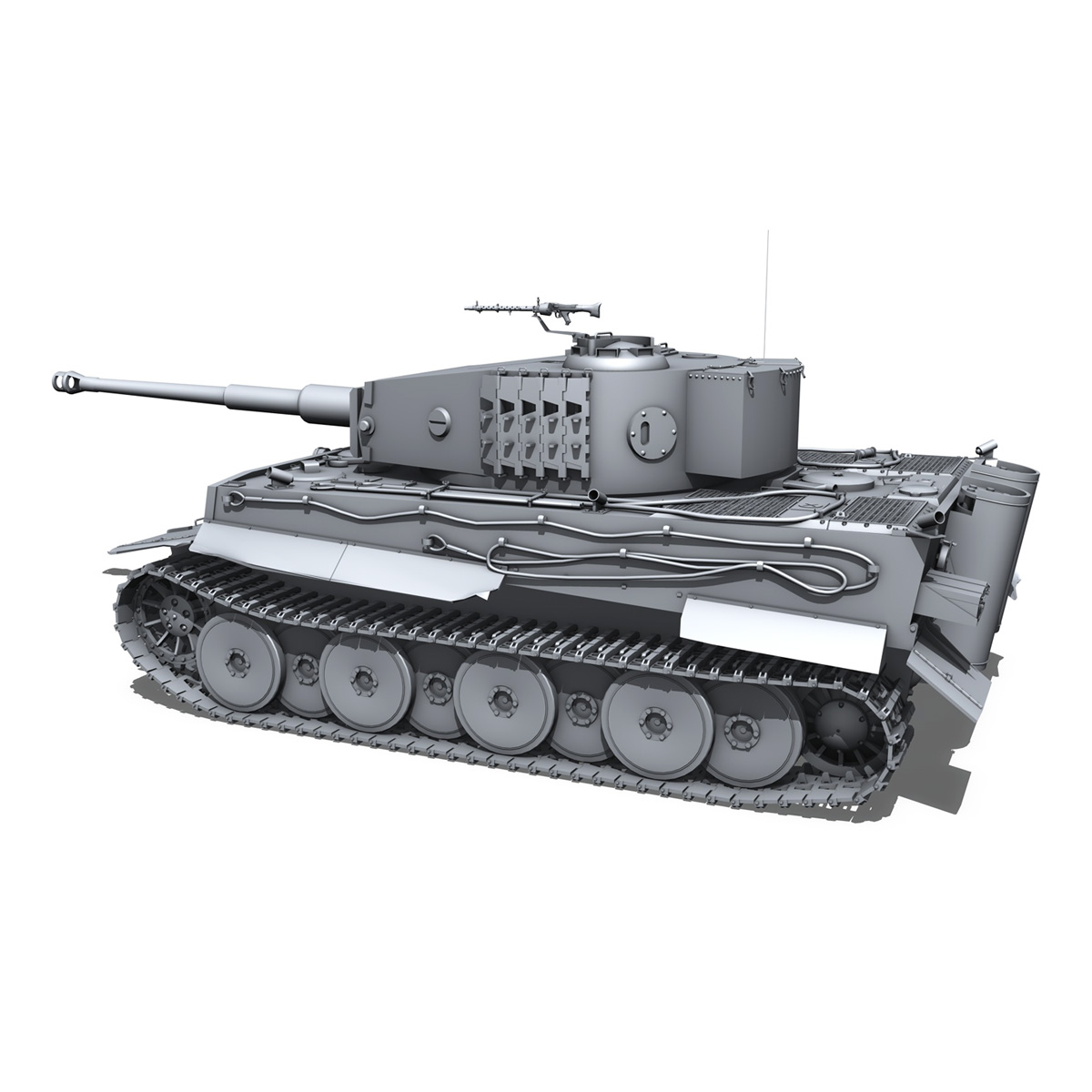 panzer vi – tiger – mid production 3d model 3ds fbx c4d lwo obj 202293