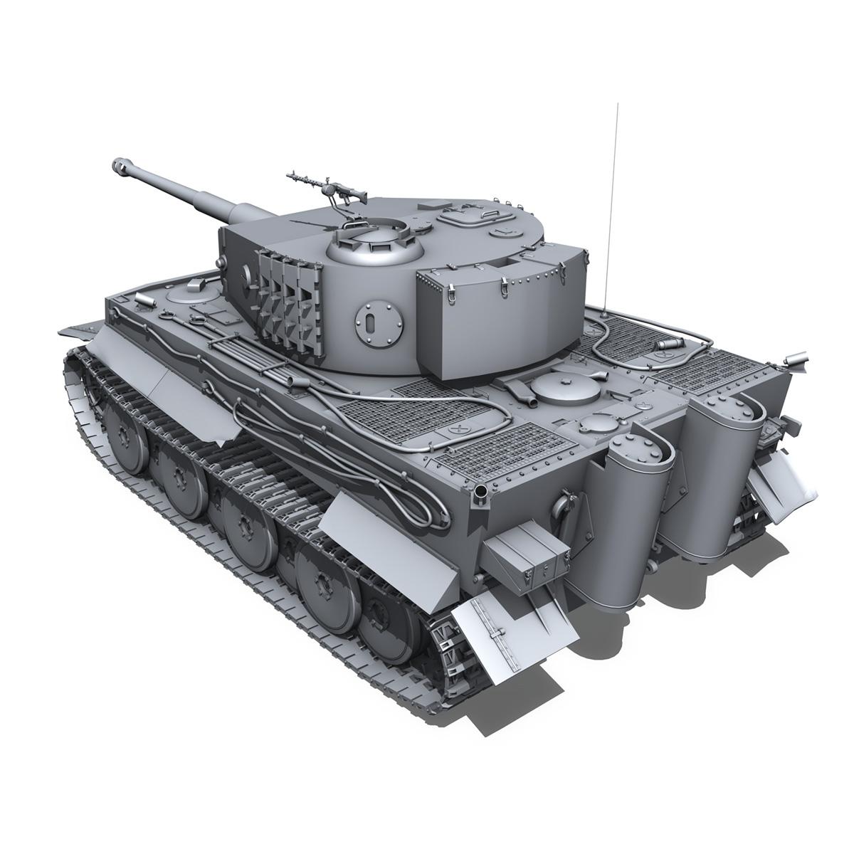 panzer vi – tiger – mid production 3d model 3ds fbx c4d lwo obj 202294
