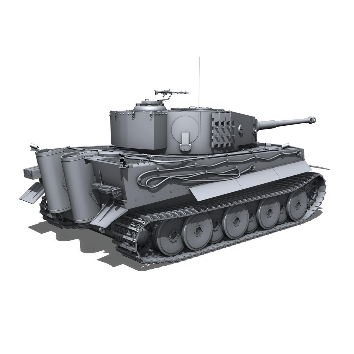 panzer vi – tiger – mid production 3d model 3ds fbx c4d lwo obj 202295