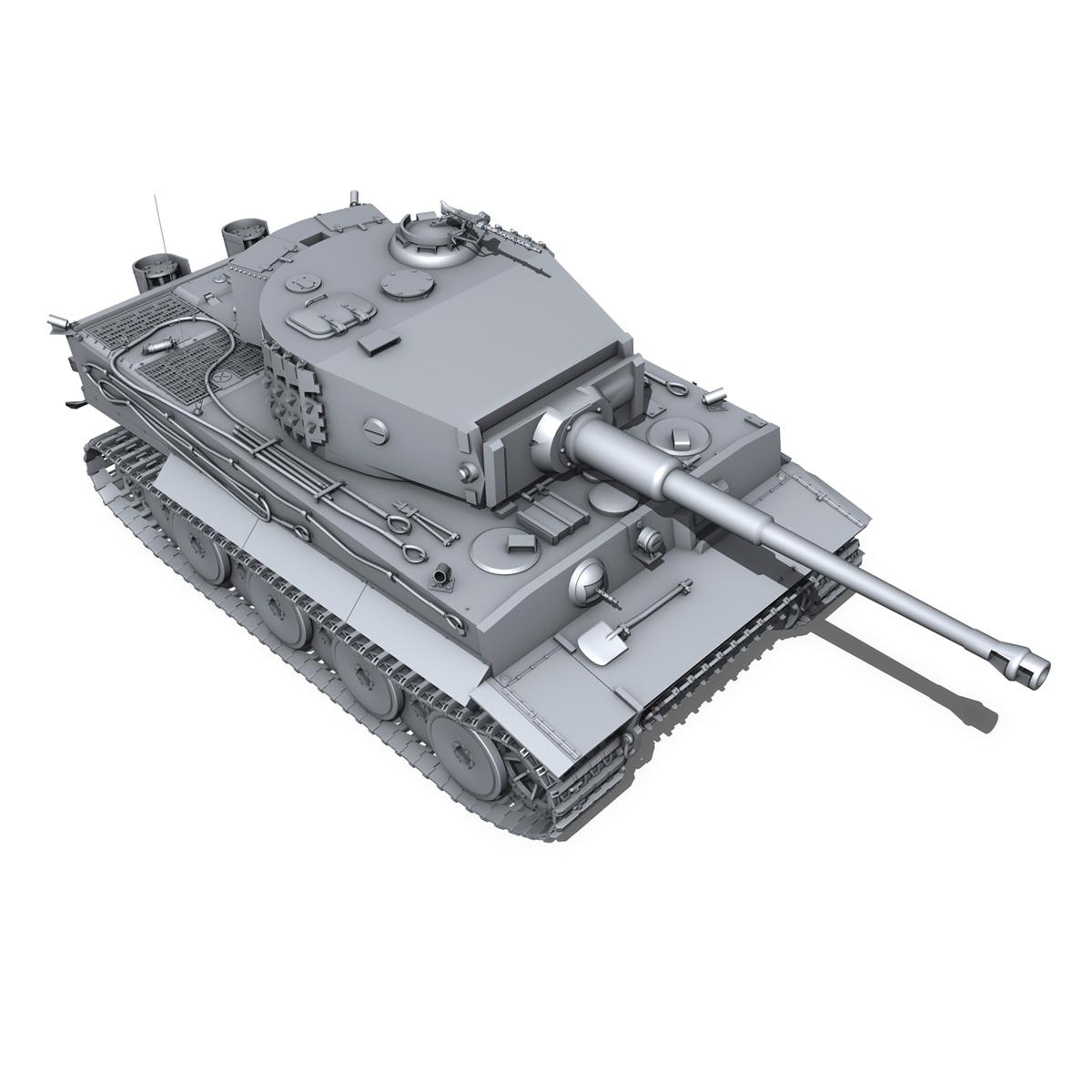 panzer vi – tiger – mid production 3d model 3ds fbx c4d lwo obj 202296