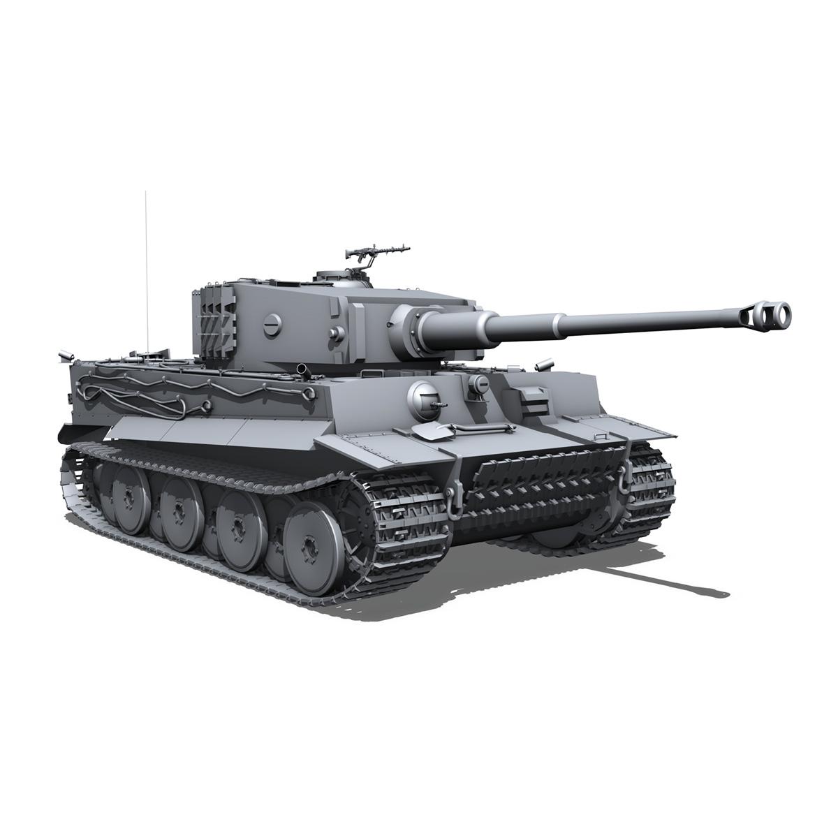 panzer vi – tiger – mid production 3d model 3ds fbx c4d lwo obj 202297