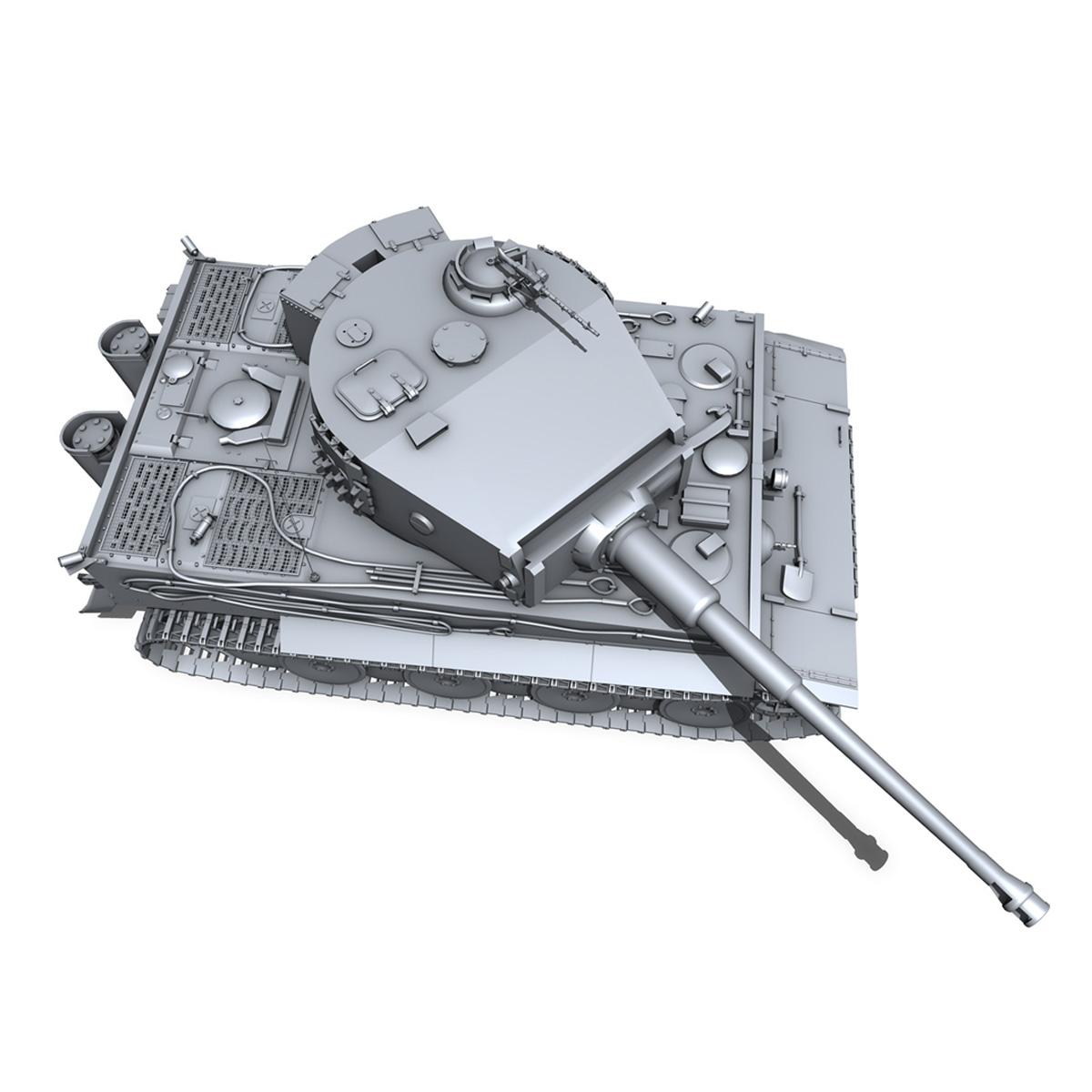 panzer vi – tiger – mid production 3d model 3ds fbx c4d lwo obj 202298