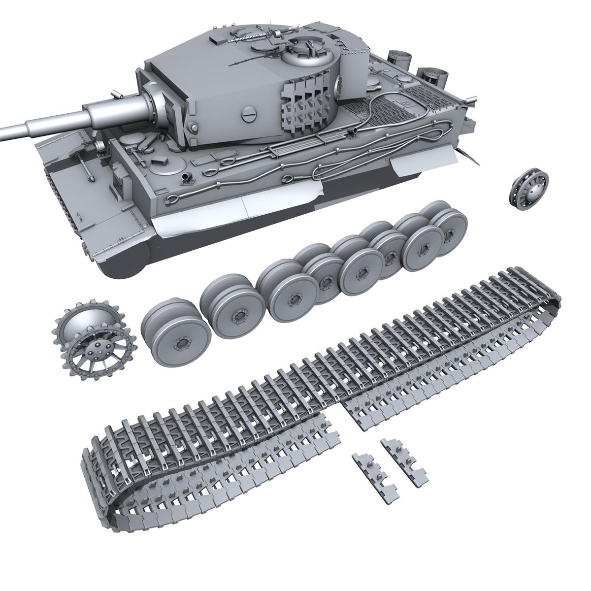 panzer vi – tiger – mid production 3d model 3ds fbx c4d lwo obj 202299