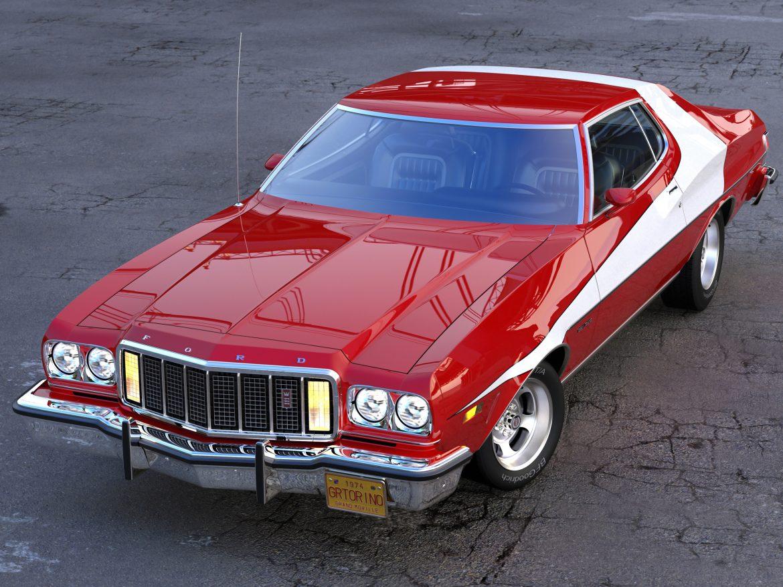 gran torino 1974 3d model 3ds max fbx c4d obj 202368