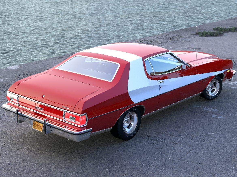 gran torino 1974 3d model 3ds max fbx c4d obj 202369