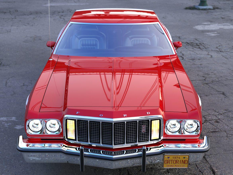 gran torino 1974 3d model 3ds max fbx c4d obj 202370