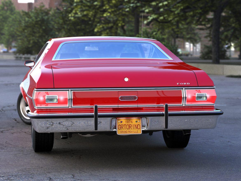 gran torino 1974 3d model 3ds max fbx c4d obj 202372
