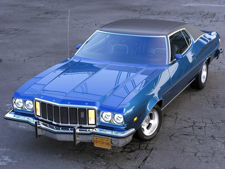 gran torino 1974 3d model 3ds max fbx c4d obj 202380