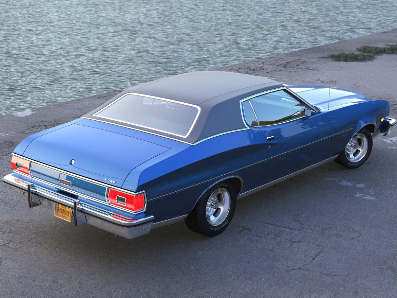 gran torino 1974 3d model 3ds max fbx c4d obj 202381