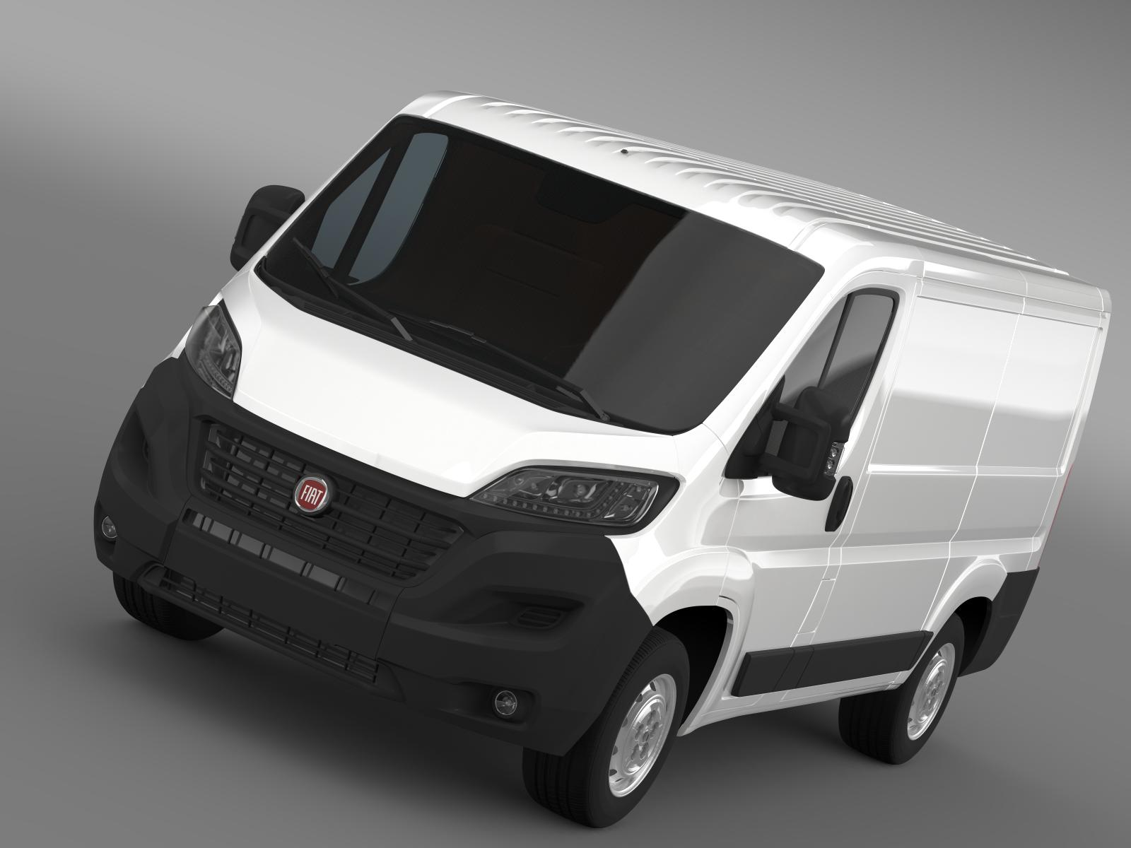 fiat ducato van l1h1 2015 3d model flatpyramid. Black Bedroom Furniture Sets. Home Design Ideas
