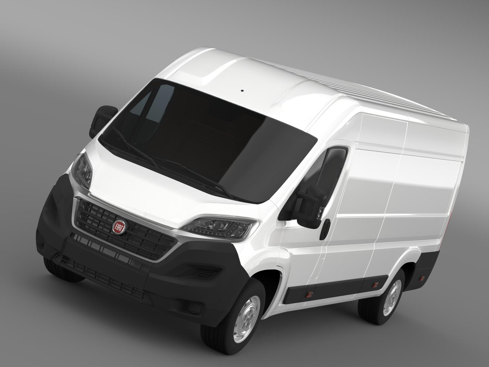 fiat ducato van l4h2 2015 3d model. Black Bedroom Furniture Sets. Home Design Ideas