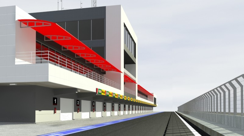 pit stop building 3d model 3ds max obj 203024