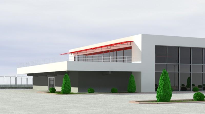 Pit stop building 3d загвар 3ds max obj 203030