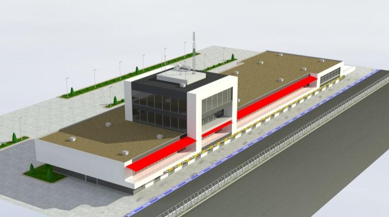 Pit stop building 3d загвар 3ds max obj 203038