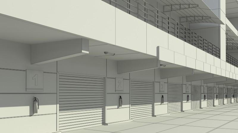 Pit stop building 3d загвар 3ds max obj 203039