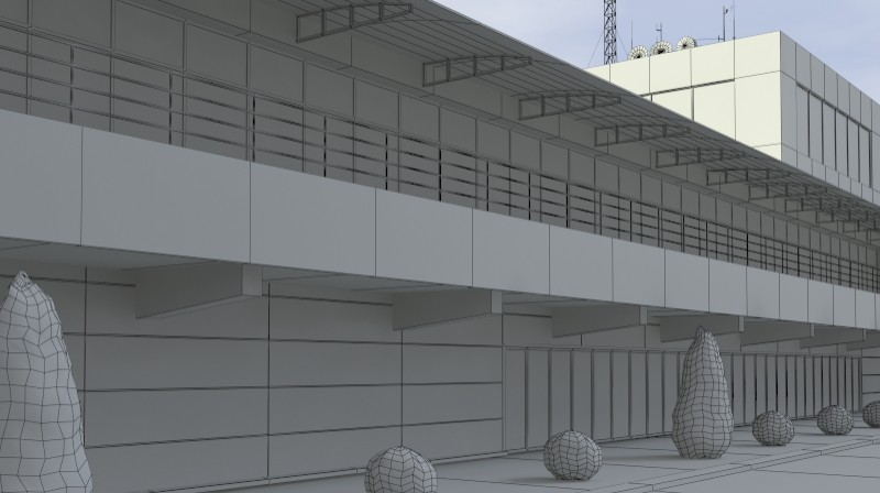 Pit stop building 3d загвар 3ds max obj 203040