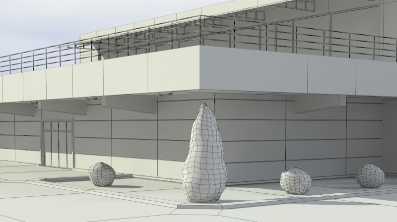 Pit stop building 3d загвар 3ds max obj 203041