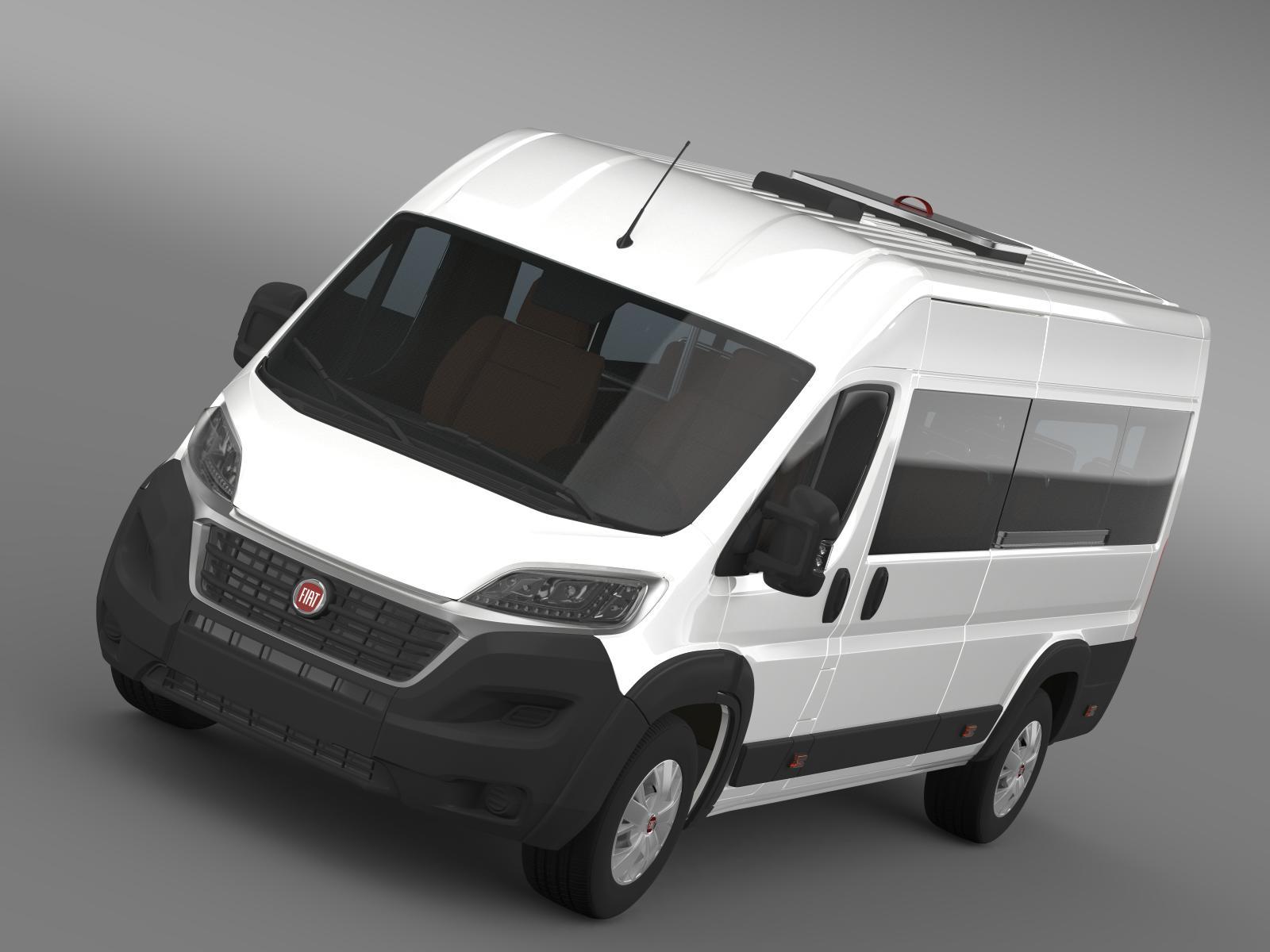 fiat ducato scuolabus 2015 3d model 3ds max fbx c4d lwo ma mb hrc xsi obj 203043