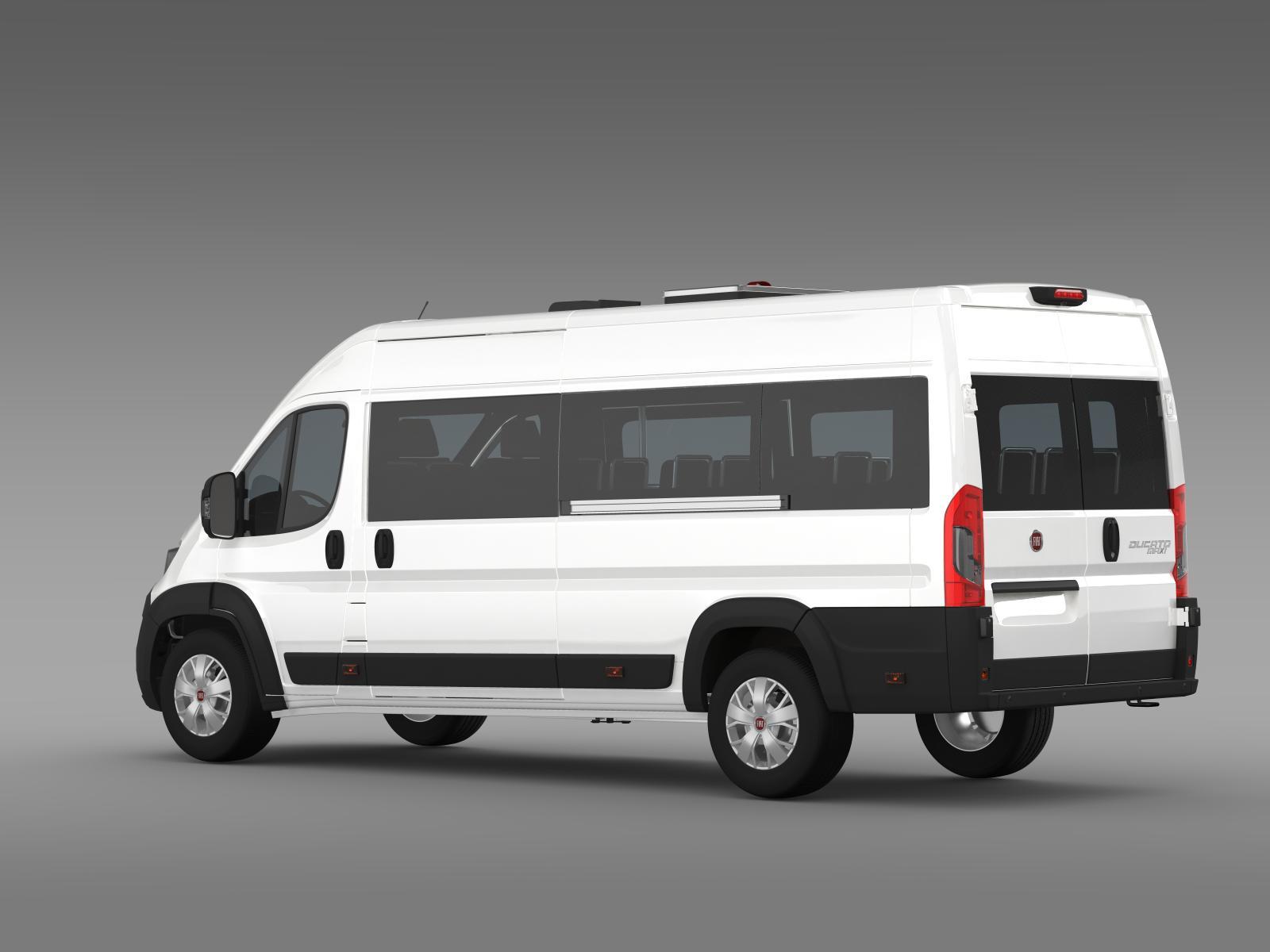 fiat ducato scuolabus 2015 3d model buy fiat ducato. Black Bedroom Furniture Sets. Home Design Ideas