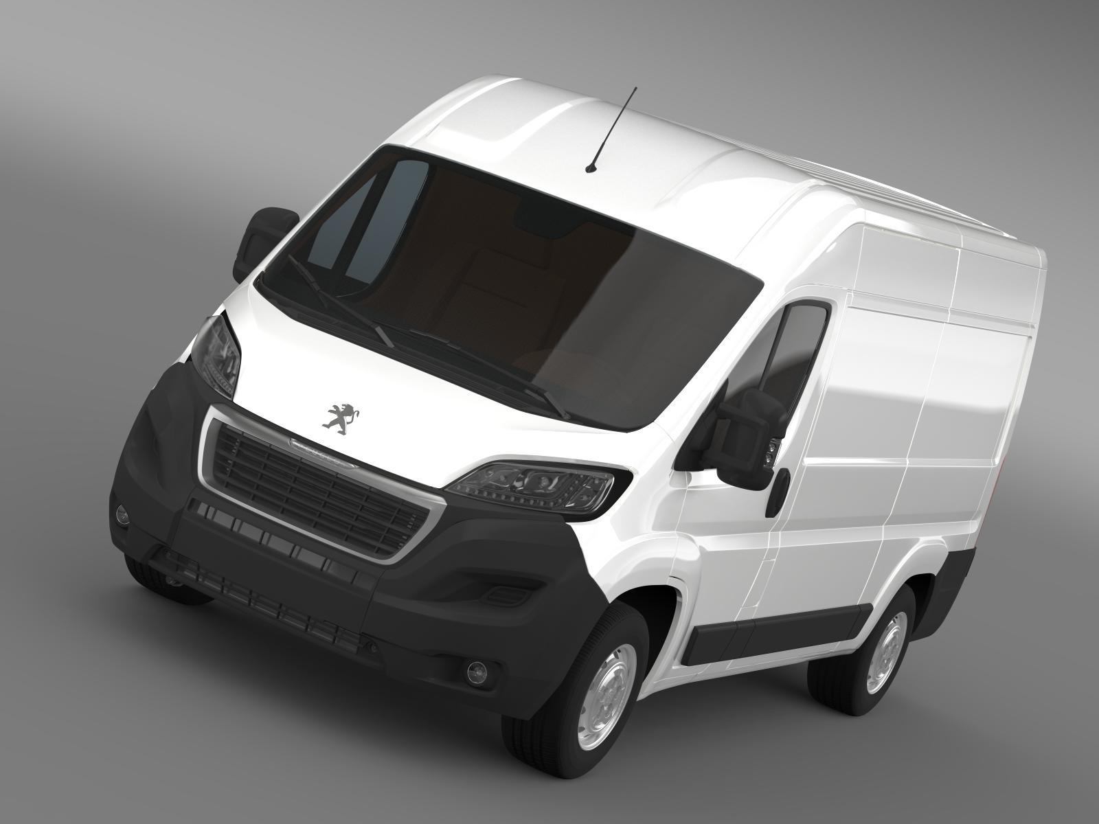 peugeot boxer furgons l2h2 2014 3d modelis 3ds max fbx c4d lwo ma mb hrc xsi obj 203063