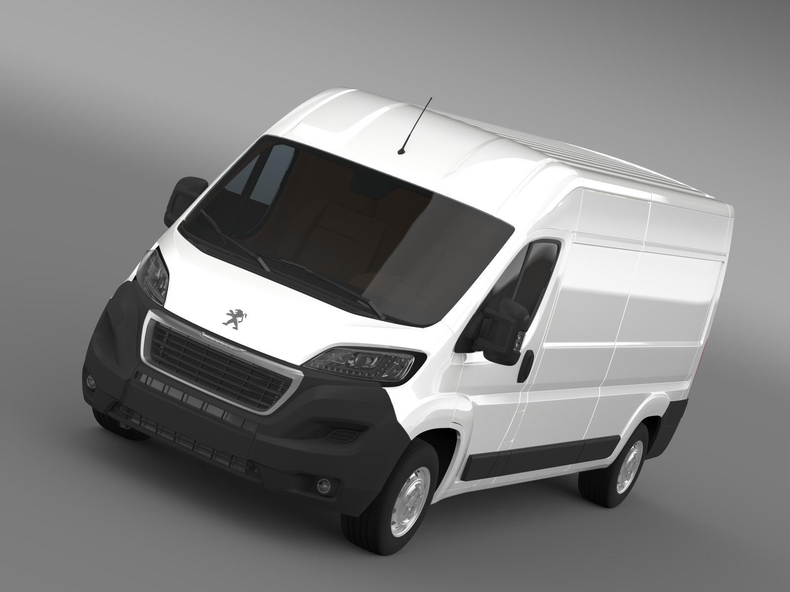 peugeot boxer furgons l3h2 2014 3d modelis 3ds max fbx c4d lwo ma mb hrc xsi obj 203083
