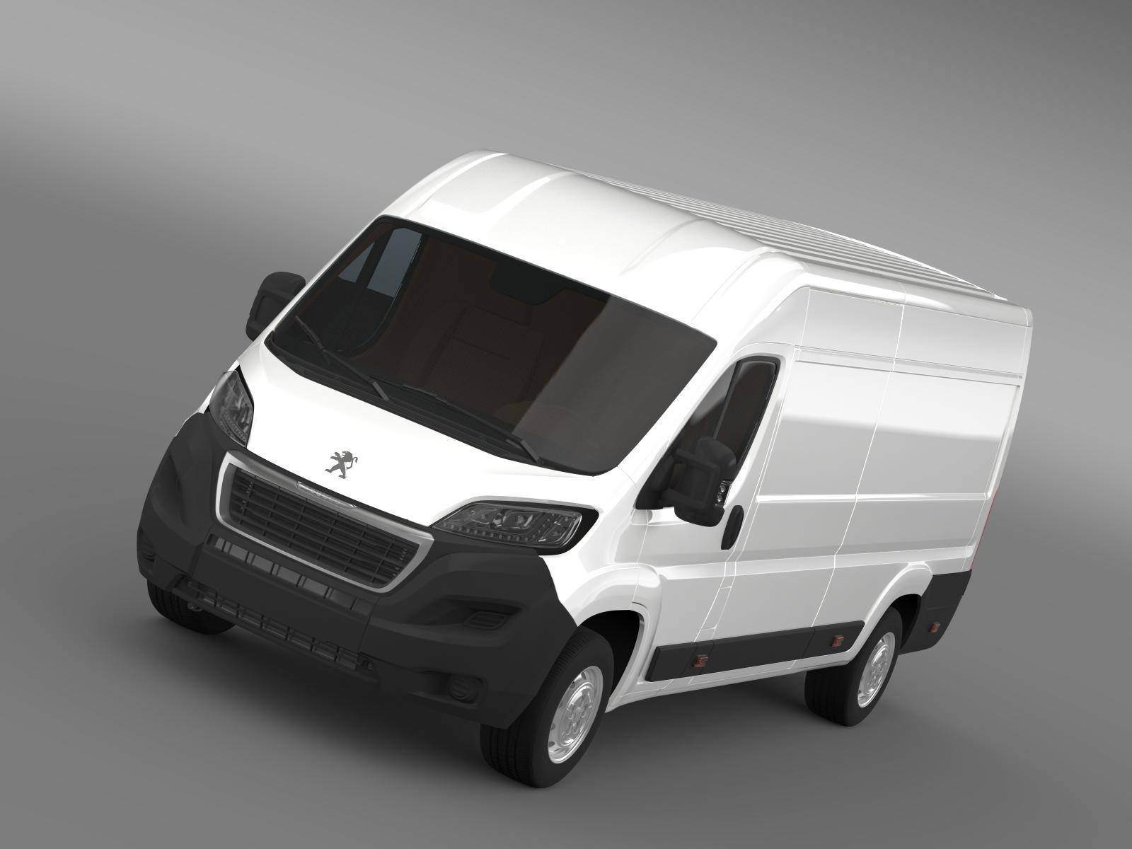 peugeot boxer furgons l4h2 2014 3d modelis 3ds max fbx c4d lwo ma mb hrc xsi obj 203103