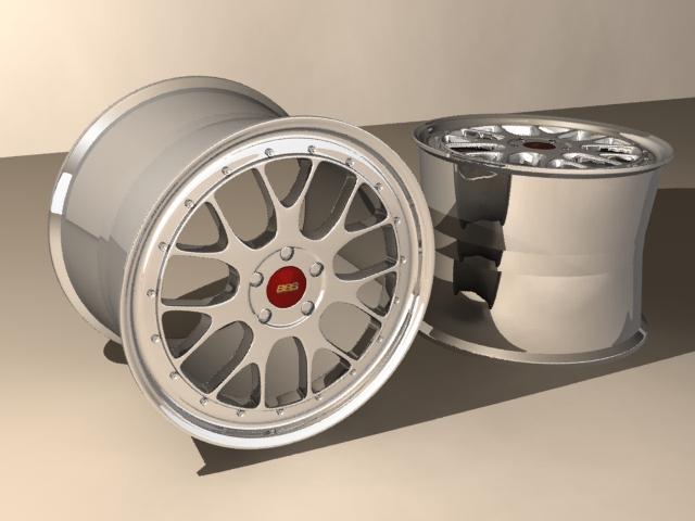 car rims 3d model max fbx 203123