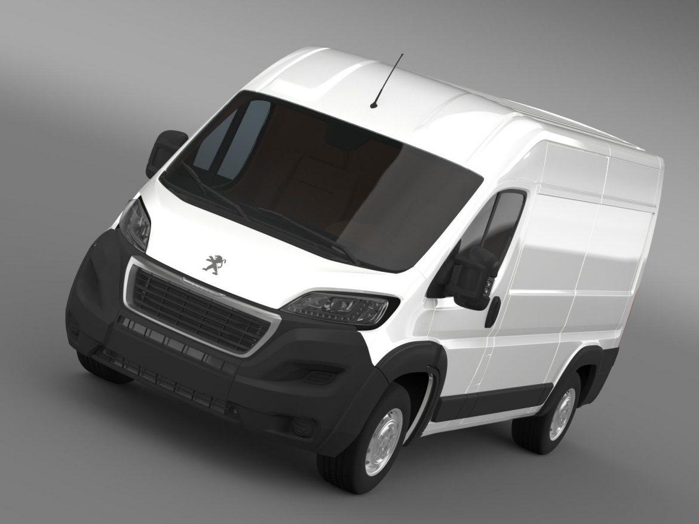 peugeot manager furgon l2h2 2014 3d model 3ds max fbx c4d lwo ma mb hrc xsi obj 203137