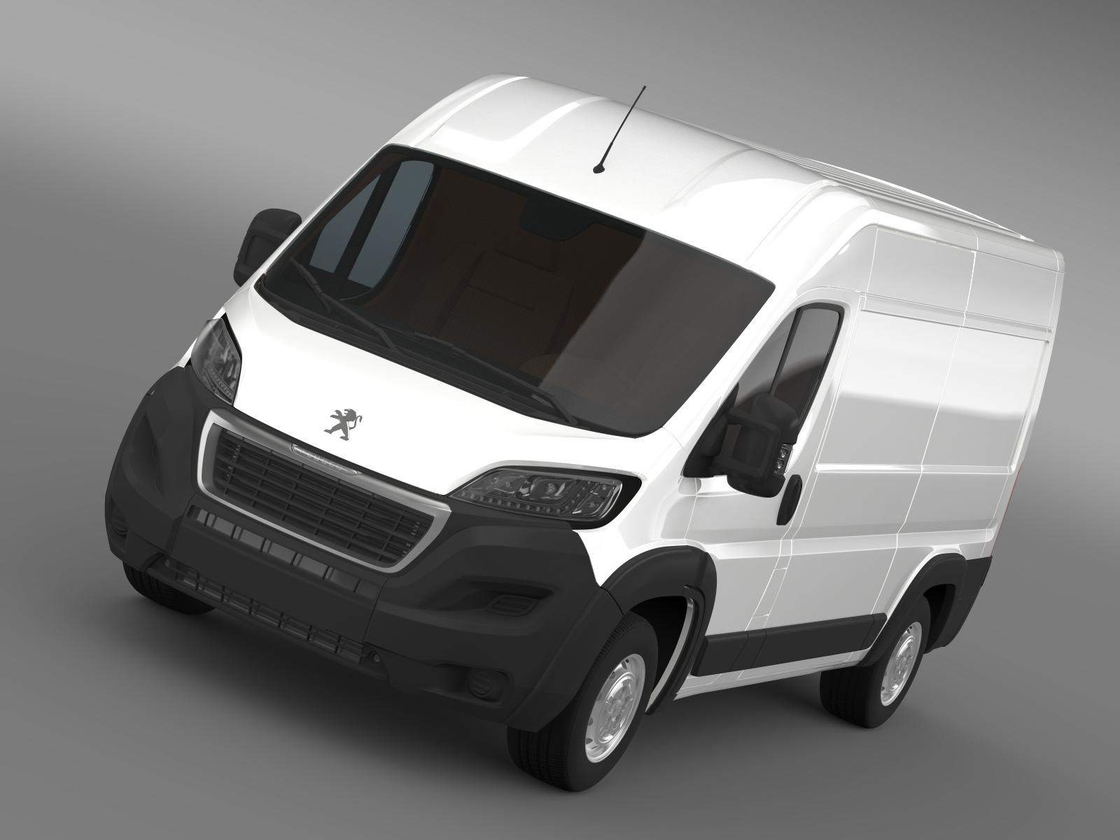 peugeot meneceri furgon l2h2 2014 3d model 3ds max fbx c4d lwo ma mb hrc xsi obj 203137