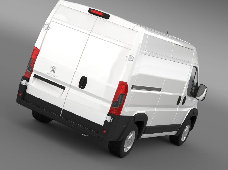 peugeot manager furgon l2h2 2014 3d model 3ds max fbx c4d lwo ma mb hrc xsi obj 203138