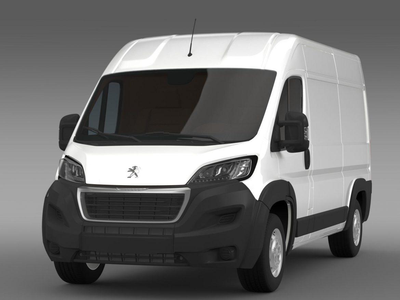 peugeot manager furgon l2h2 2014 3d model 3ds max fbx c4d lwo ma mb hrc xsi obj 203139