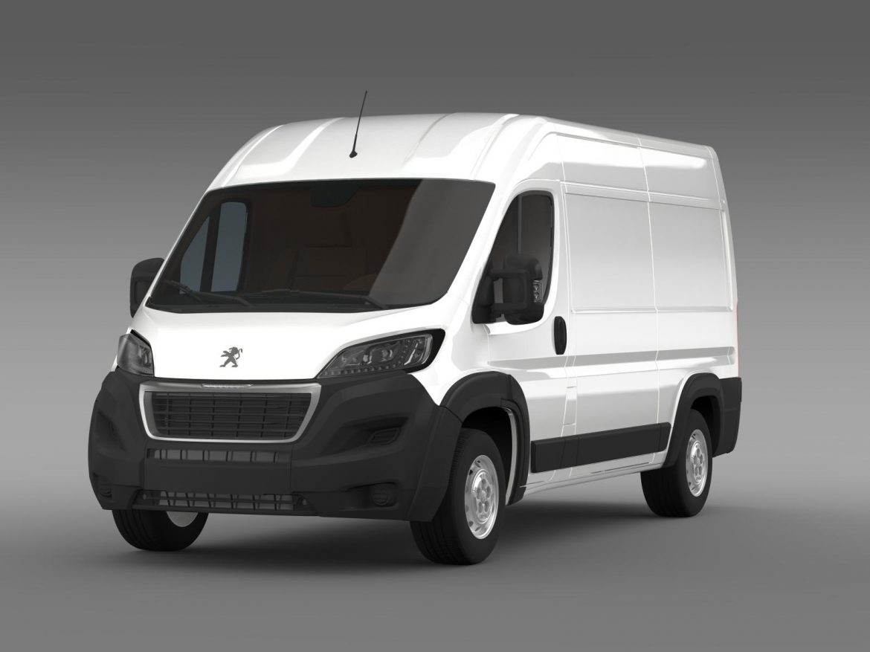peugeot manager furgon l2h2 2014 3d model 3ds max fbx c4d lwo ma mb hrc xsi obj 203140