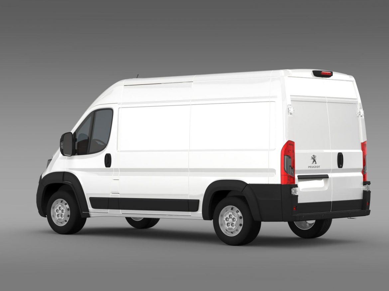 peugeot manager furgon l2h2 2014 3d model 3ds max fbx c4d lwo ma mb hrc xsi obj 203143