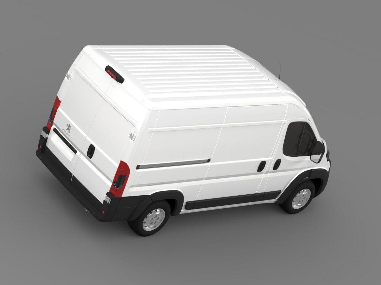 peugeot manager furgon l2h2 2014 3d model 3ds max fbx c4d lwo ma mb hrc xsi obj 203146