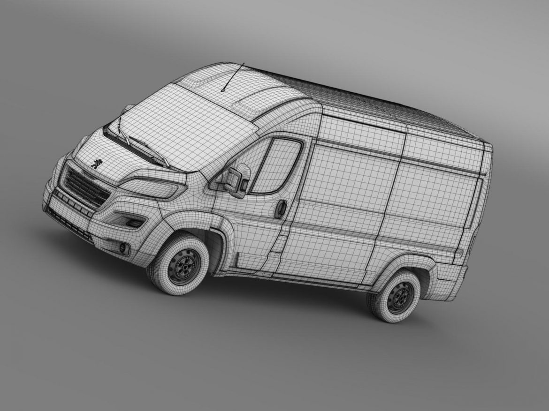 peugeot manager furgon l2h2 2014 3d model 3ds max fbx c4d lwo ma mb hrc xsi obj 203153