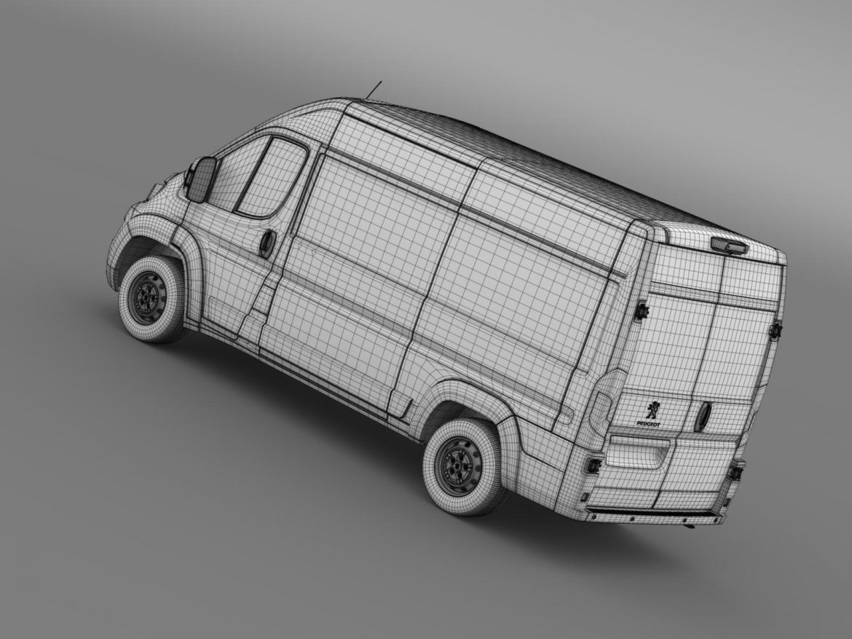 peugeot manager furgon l2h2 2014 3d model 3ds max fbx c4d lwo ma mb hrc xsi obj 203155