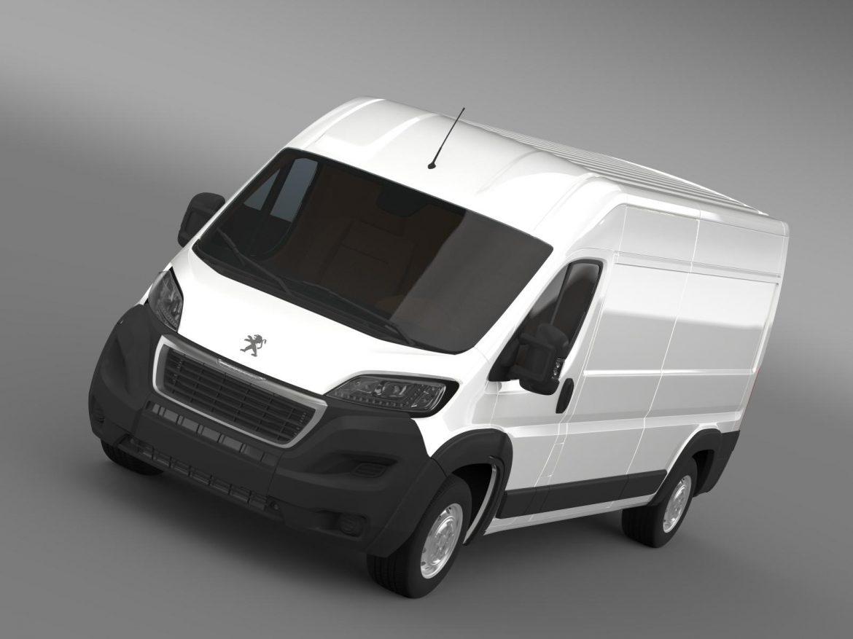 peugeot manager furgon l3h2 2014 3d model 3ds max fbx c4d lwo ma mb hrc xsi obj 203157