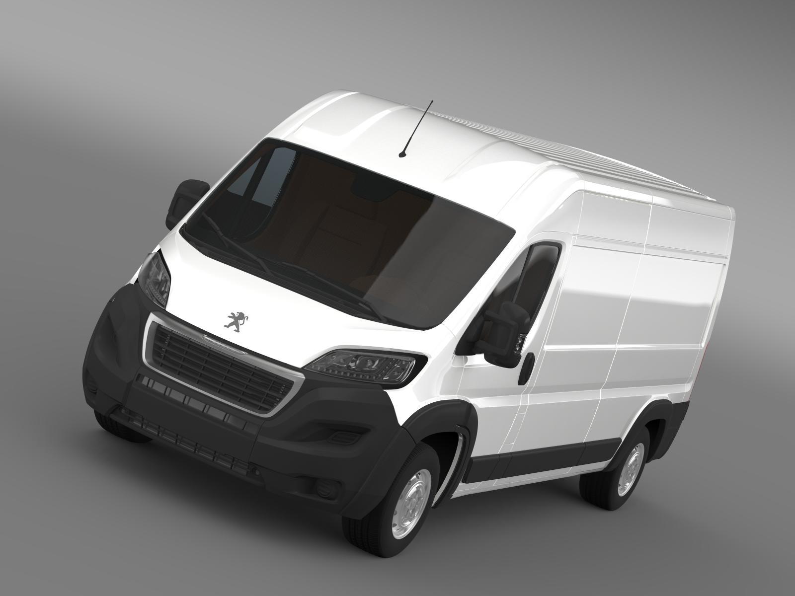 peugeot vadītājs furgon l3h2 2014 3d modelis 3ds max fbx c4d lwo ma mb hrc xsi obj 203157