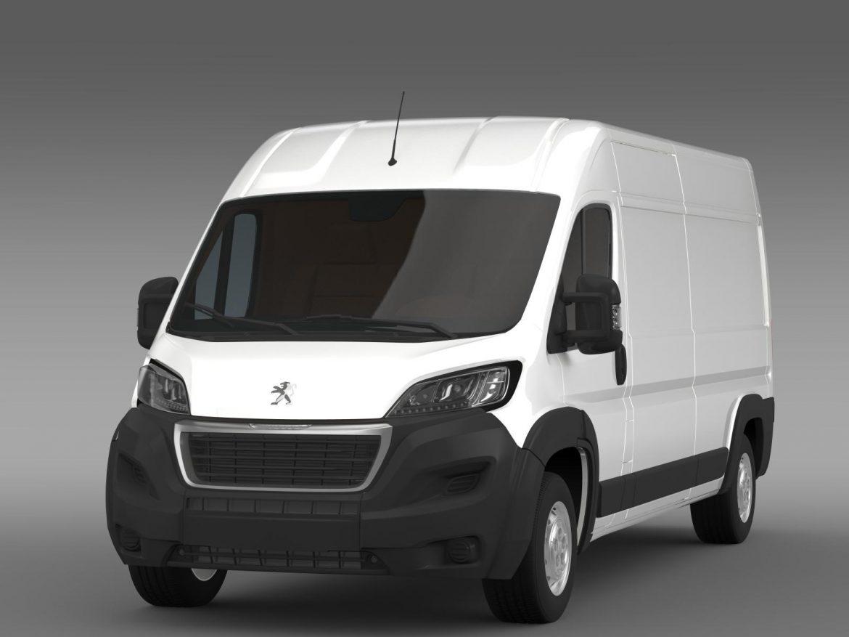 peugeot manager furgon l3h2 2014 3d model 3ds max fbx c4d lwo ma mb hrc xsi obj 203159