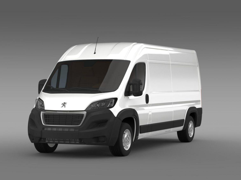 peugeot manager furgon l3h2 2014 3d model 3ds max fbx c4d lwo ma mb hrc xsi obj 203160