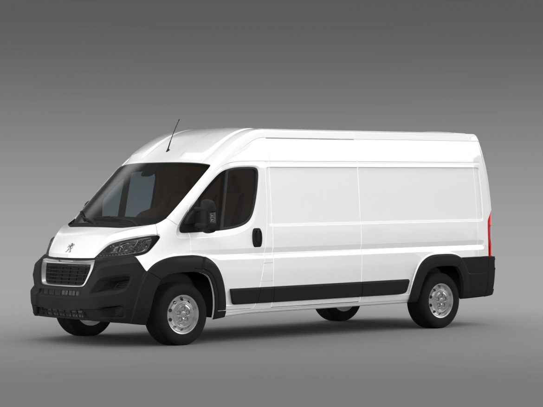 peugeot manager furgon l3h2 2014 3d model 3ds max fbx c4d lwo ma mb hrc xsi obj 203161