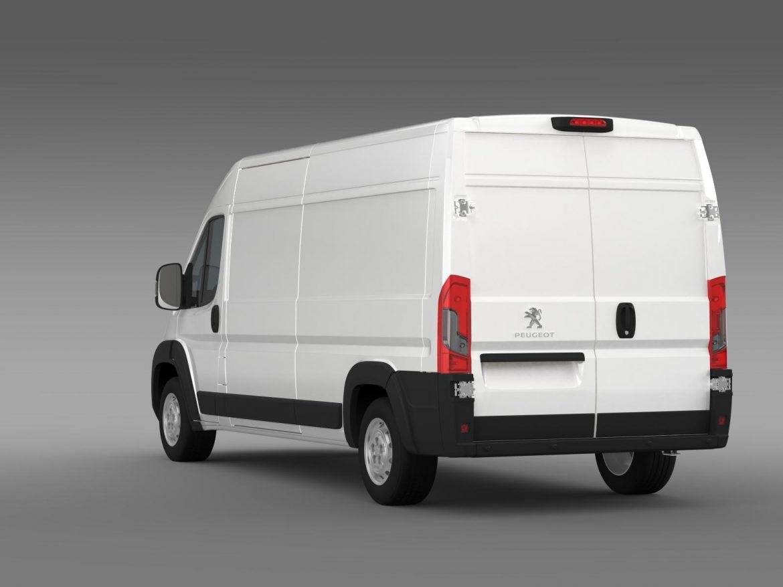 peugeot manager furgon l3h2 2014 3d model 3ds max fbx c4d lwo ma mb hrc xsi obj 203164