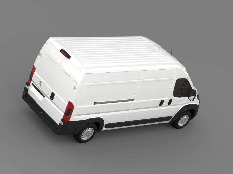 peugeot manager furgon l3h2 2014 3d model 3ds max fbx c4d lwo ma mb hrc xsi obj 203166