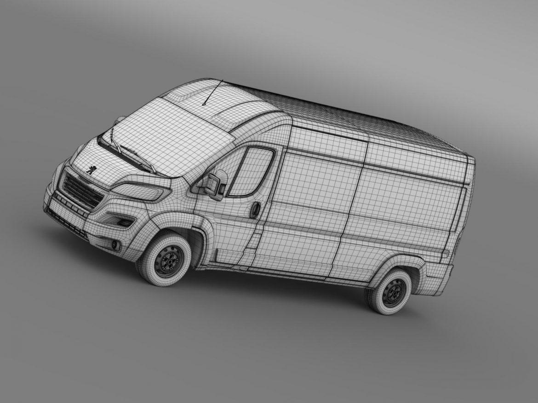 peugeot manager furgon l3h2 2014 3d model 3ds max fbx c4d lwo ma mb hrc xsi obj 203173
