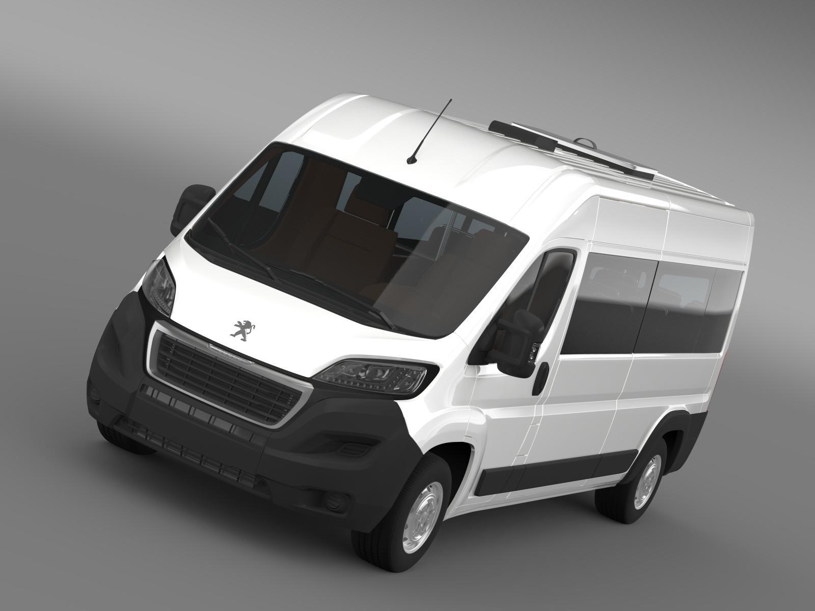 peugeot boxer minibus 2014 3d model 3ds max fbx c4d lwo ma mb hrc xsi obj 203197