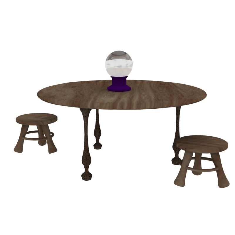 fortune teller table 3d model obj 203257