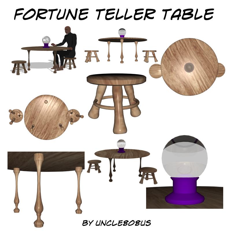 fortune teller table 3d model obj 203258