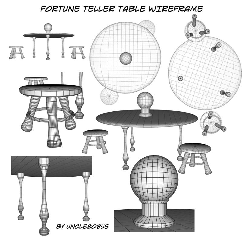 fortune teller table 3d model obj 203259