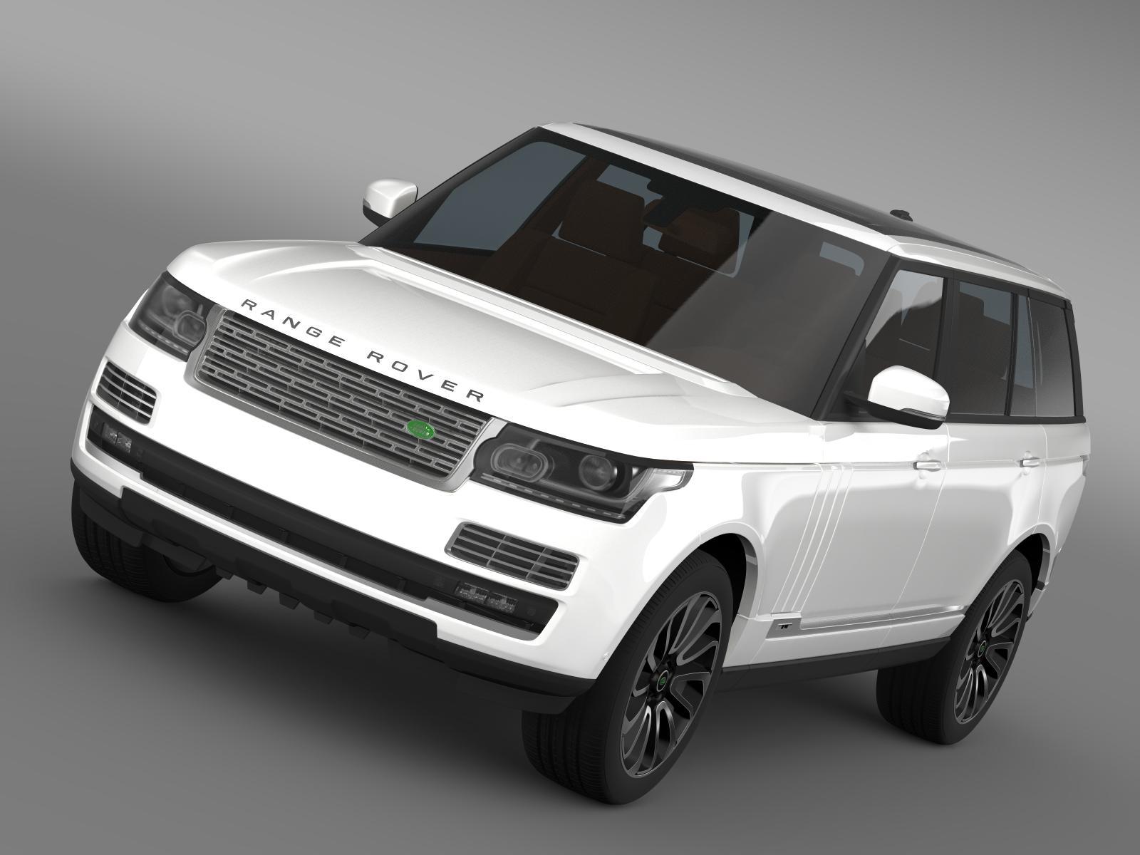 range rover autobiography lwb l405 2014 3d model 3ds max fbx c4d lwo ma mb hrc xsi obj 203301